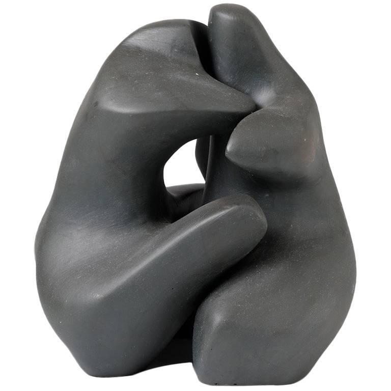 Couple Ceramic Sculpture by Tim Orr, circa 1970