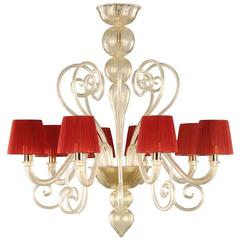 Italian Venetian Murano Glass Chandelier
