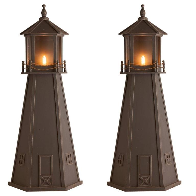 Pair of French Mid-Century Lighthouse Sconces