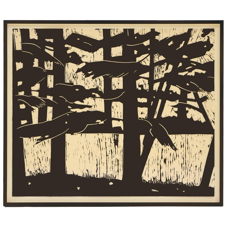 "Alex Katz linocut print ""Pines"" (2003) , signed and framed"