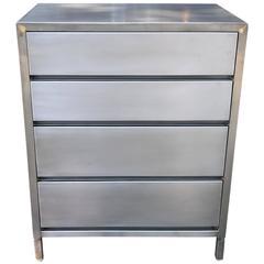 Machine Age Streamlined Brushed Steel Dresser by Superior Sleeprite