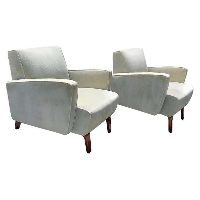 Chic Pair of Art Deco Club / Lounge Chairs