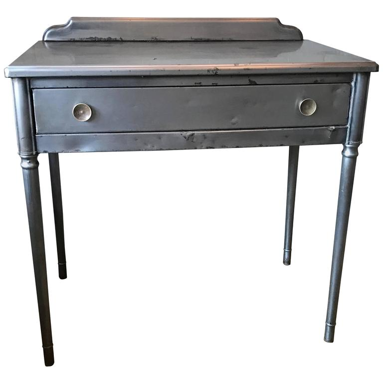 Brushed Steel Sheraton Series Vanity Writing Desk by Simmons Company Furniture
