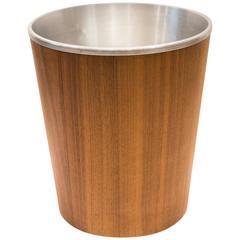 Martin Aberg Wastebasket in Teak with Spun Aluminium Insert