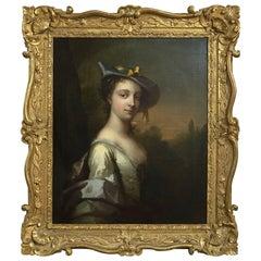 Frans van der Mijn Portrait of a Lady as Shepherdess