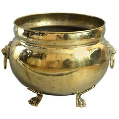 Large 19th Century Brass Planter or Wine Cooler