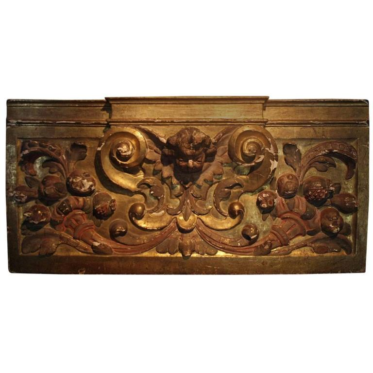 18th Century Italian Gilded Boiserie Fragment For Sale