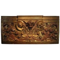 18th Century Italian Gilded Boiserie Fragment