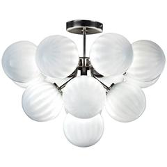 Italian Murano Glass Globes Chandelier