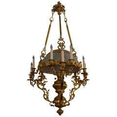 Antique Brass Suspension Oil Lantern
