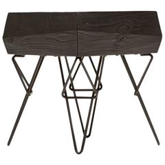 Bowline Ebonized Side Table - In Stock
