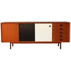 Danish Modern Credenza with Reversible Doors