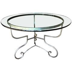 Provincial French Wrought Iron Centre Table, Pierre Deux, circa 1980
