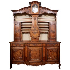 Beautiful 19th Century Walnut Clock Vasselier
