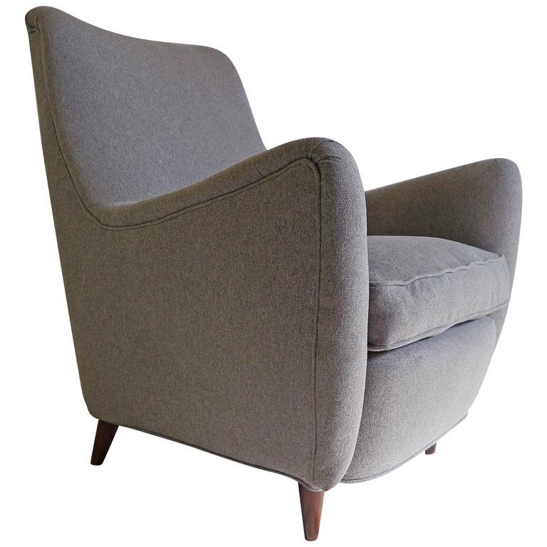 Italian Gio Ponti Style Lounge Chair