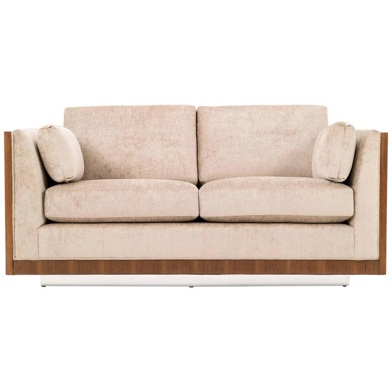 Milo baughman rosewood case settee for sale at 1stdibs for Settees for sale