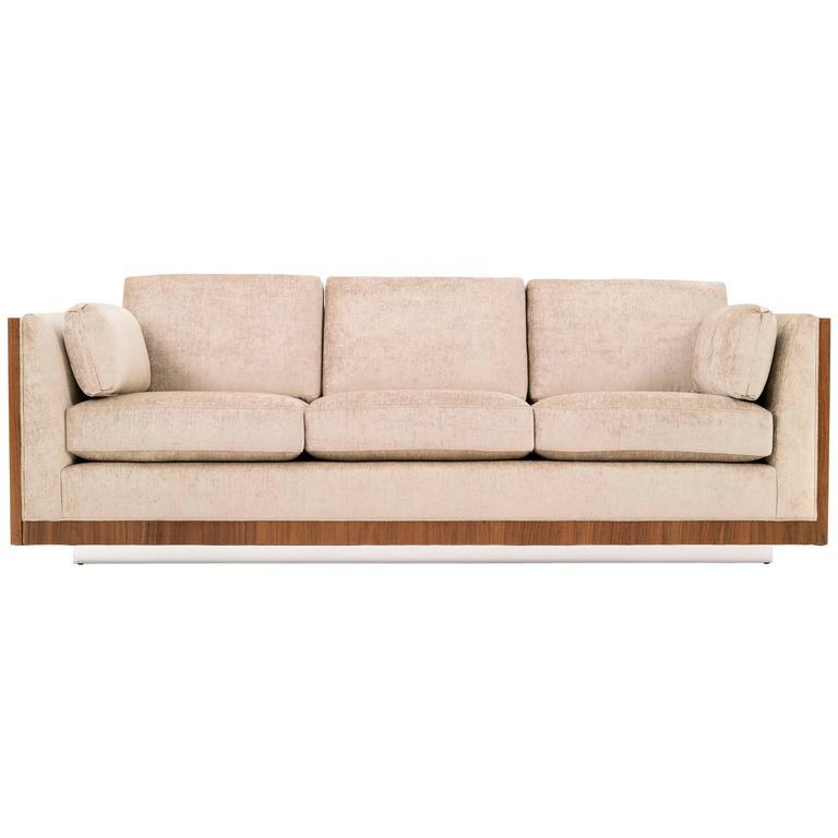 Milo Baughman Rosewood Case Sofa For Sale