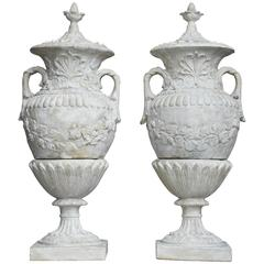 Pair of Grand Neoclassical Style Patio Urns