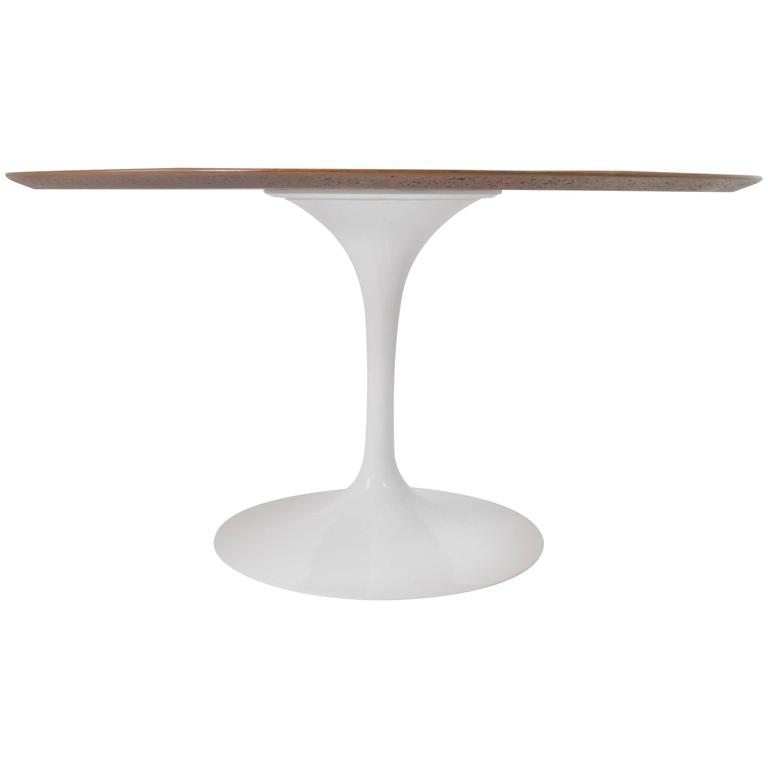 Knoll Tulip Table with Walnut Top