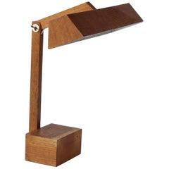 Vintage Adjustable Wooden French Desk Lamp