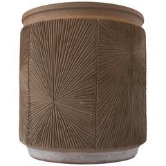 Robert Maxwell Earthgender Glazed Cylindrical Planter