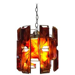 Faux Tortoiseshell Pendant Light