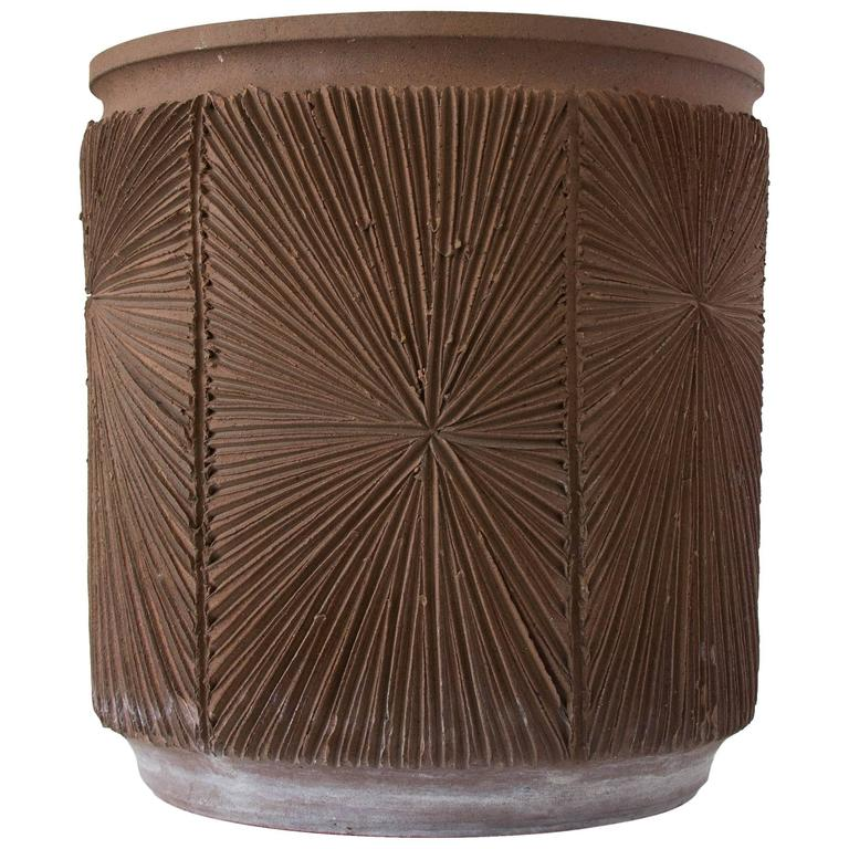 Single Robert Maxwell and David Cressey Earthgender Medium Cylindrical Planter