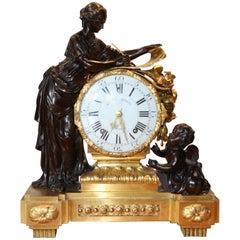 Louis XVI Gilt Bronze Mantle Clock Movement by Etienne Lenoir Case by Morley
