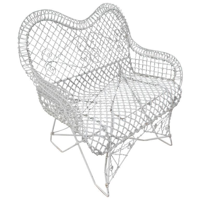 Wire Mesh Loveseat Settee Outdoor Bench
