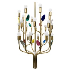 "Rare J. T. Kalmar, ""Buntblatt"" chandelier, Model No. 3748"