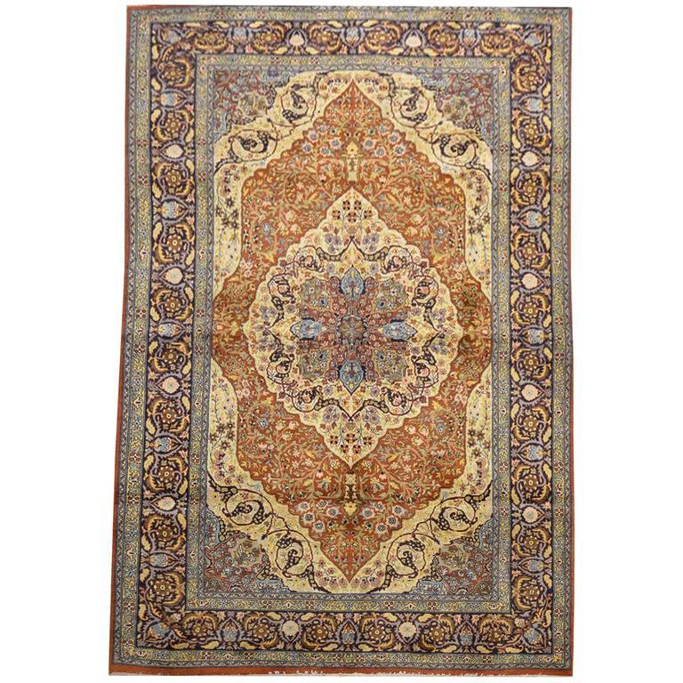 Tabriz Rug Hadji Jalili Colors Classic Design For Sale At 1stdibs