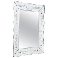 Vintage French Bevelled Edge Mirror