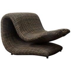 Rare Pop Art Duck Beak Easy Chair in Original Fabric, circa 1960