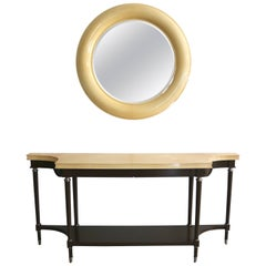 Goatskin Lacquered Console & Mirror