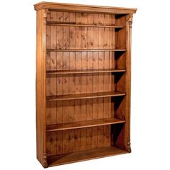 Antique Oak Large Bookcase Display Shelves Quality, Victorian, circa 1900