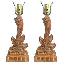 Pair of 1940s American Heifetz Table Lamps