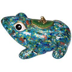 Chinese Cloisonné Frog