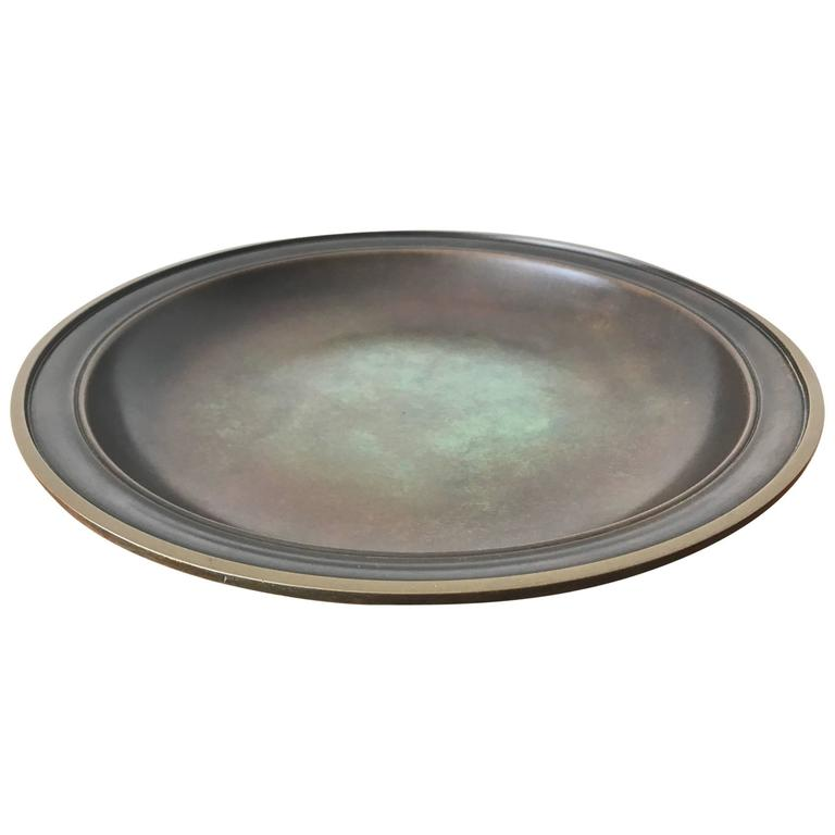Large Just Andersen Patinated Bronze Charger 1
