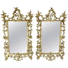 Pair of George III Bright Gilt Mirrors