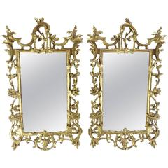 Pair of George III Bright Gilt Mirrors