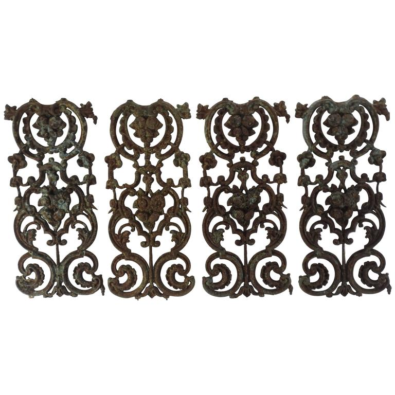 Early 19th Century French Wrought Iron Panels