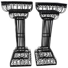 Pair of Victorian Metal Plant Stands