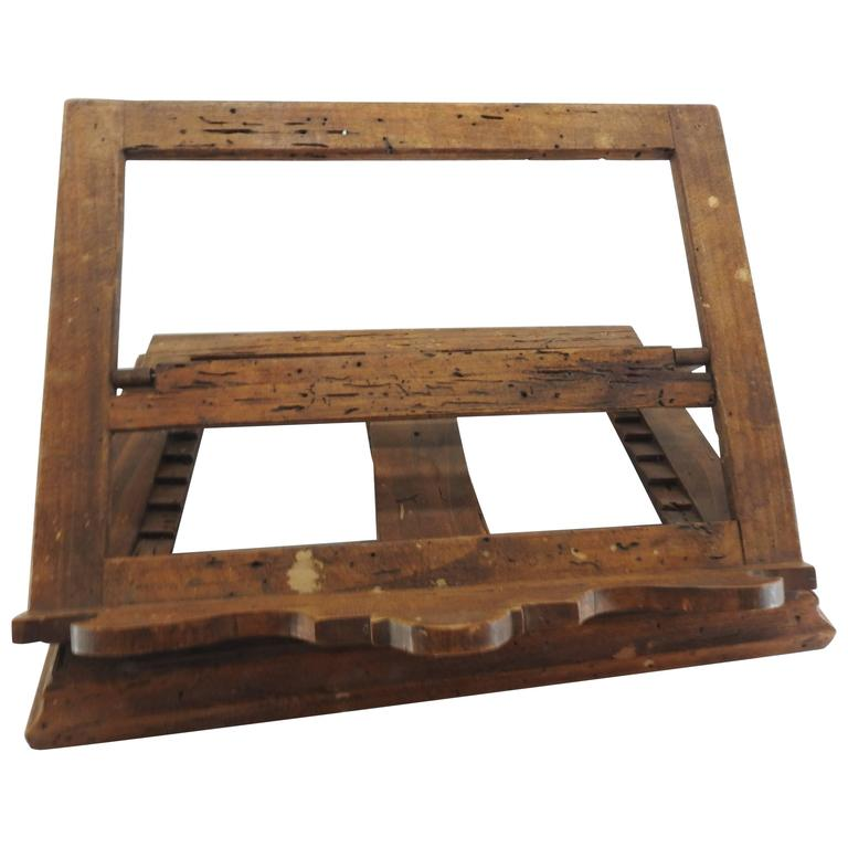 Late 18th Century Italian Olive Wood Book Stand For Sale