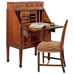 Antique Writing Desk Bureau Edwardian Mahogany Bon Heur Du Jour, circa 1910