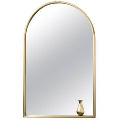 Portrait with Little Vase Brass Mirror Designed by Elisa Giovannoni