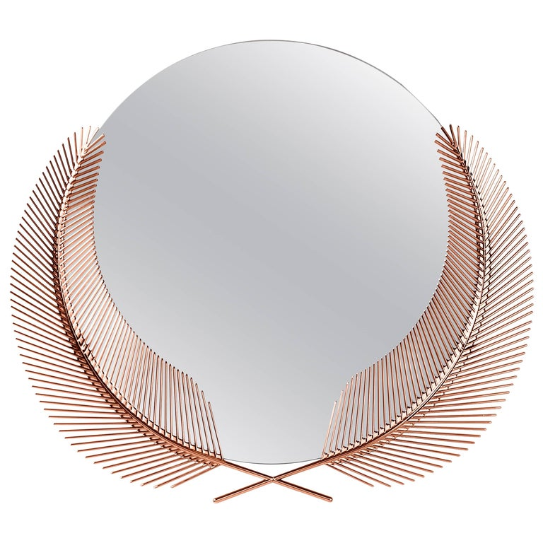 Sunset Rose Gold Mirror Designed by Nika Zupanc for Ghidini, 1961 For Sale