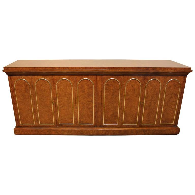 John Stuart Burl Wood Credenza Sideboard