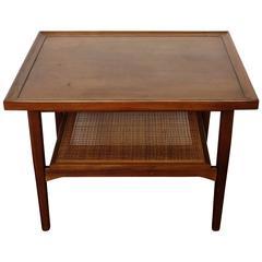 Vintage Kipp Stewart Walnut Side Table for Drexel Declaration