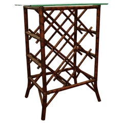 Antique Bamboo Wine Rack