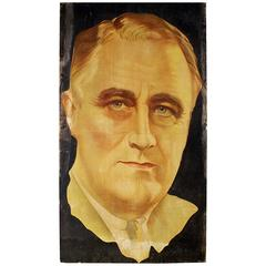 Political Lithograph of Franklin Roosevelt USA, 4' x7' circa 1930